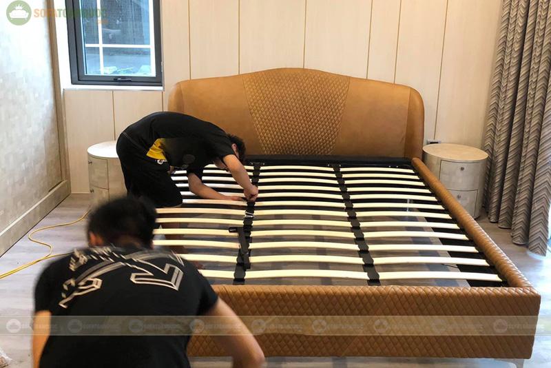 Giường ngủ da đẹp mã 104
