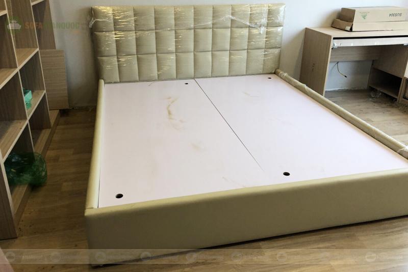 Giường bọc da giá rẻ 1900mm mã 87