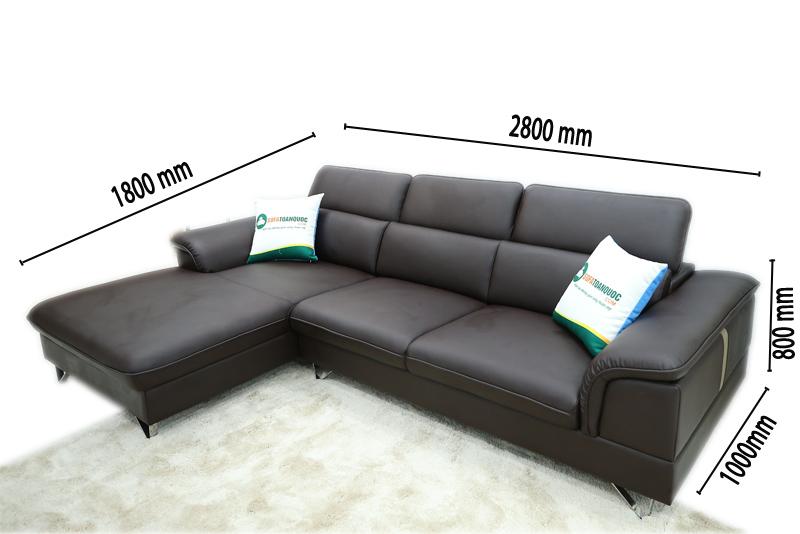kích thước mẫu ghế sofa mã m12b
