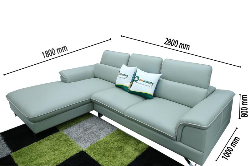 kích thước mẫu ghế sofa mã m12a