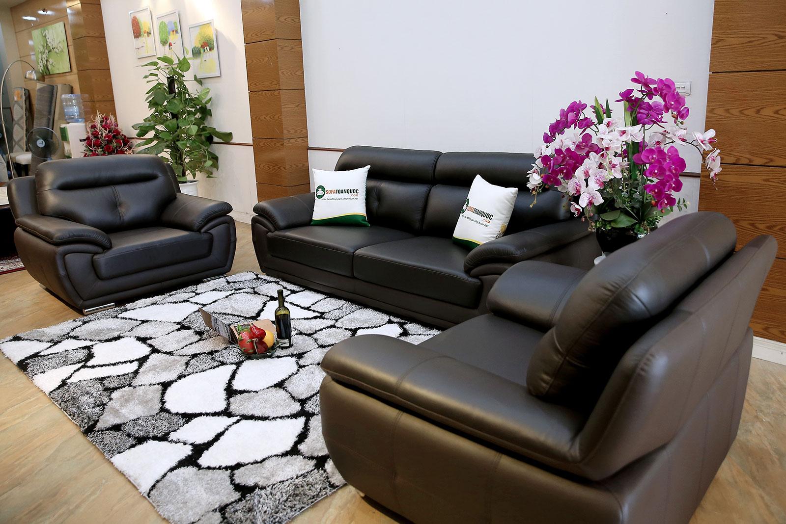 Bộ sofa da thật đẹp mã m17