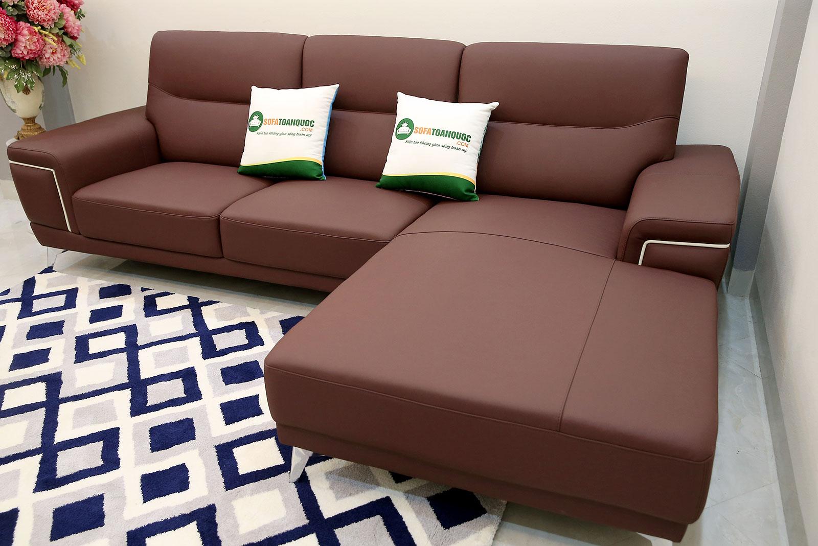 Sofa da màu đỏ mận bọc da cao cấp mã M19