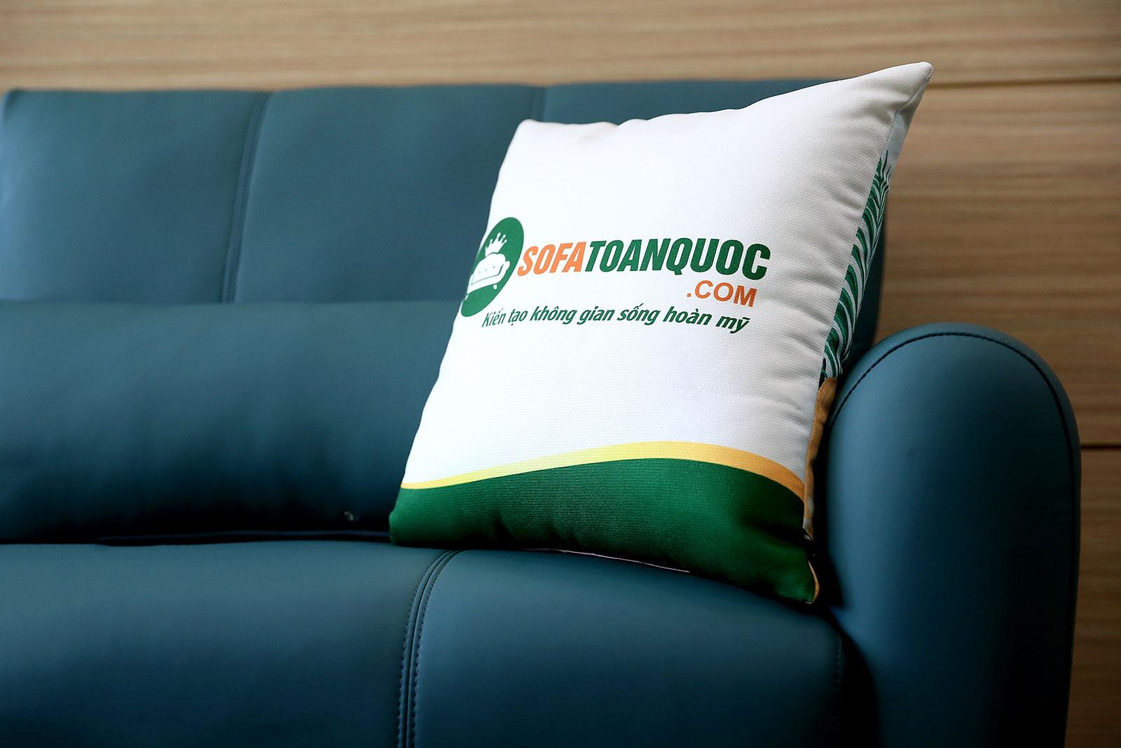 Bộ bàn ghế phòng khách gồm 2 đơn và 1 ghế văng màu xanh cổ vịt M20-6