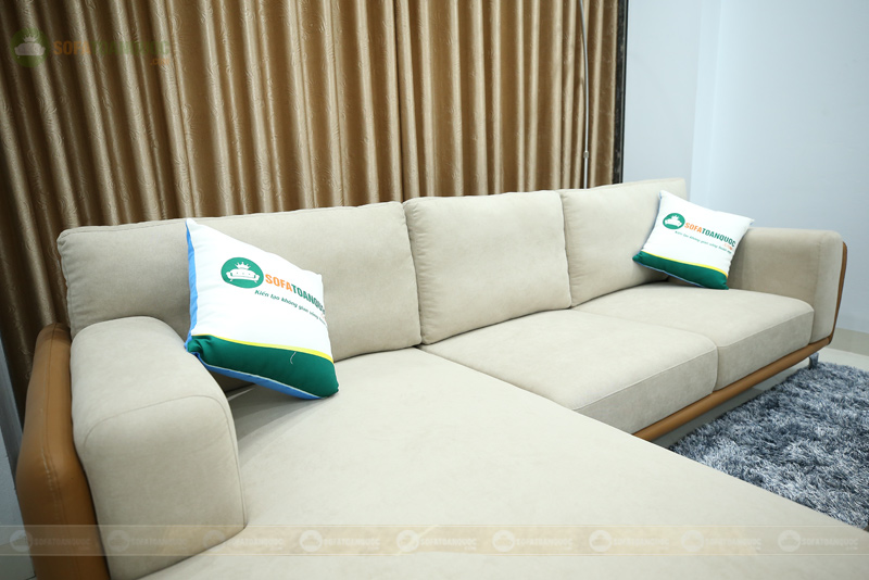 sofa bọc da kiểu chữ L