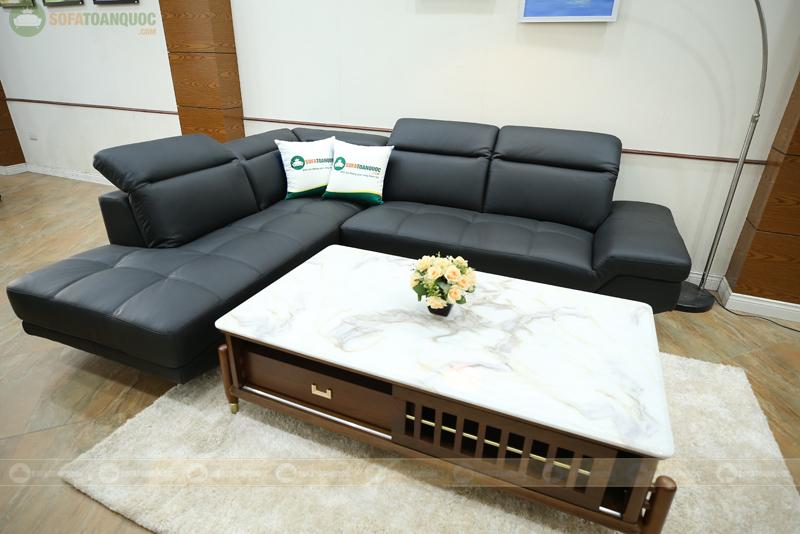 ghế sofa góc màu đen