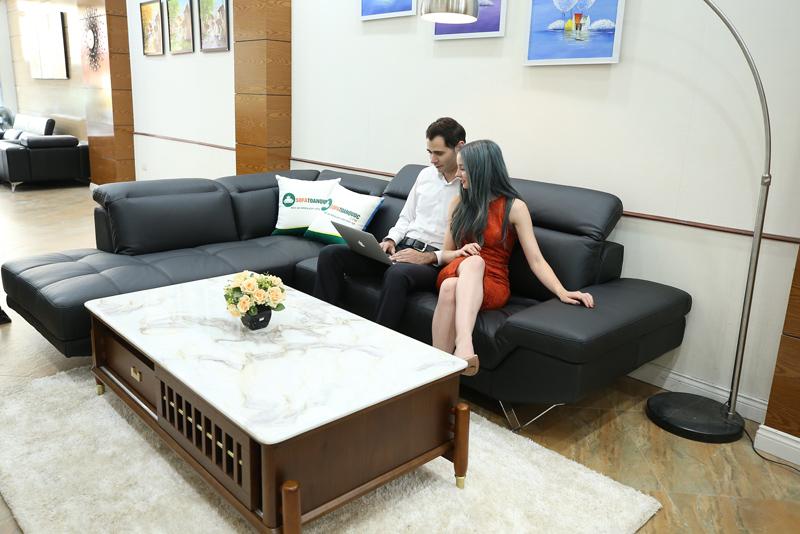ghế sofa da bò thật nhập Malaysia