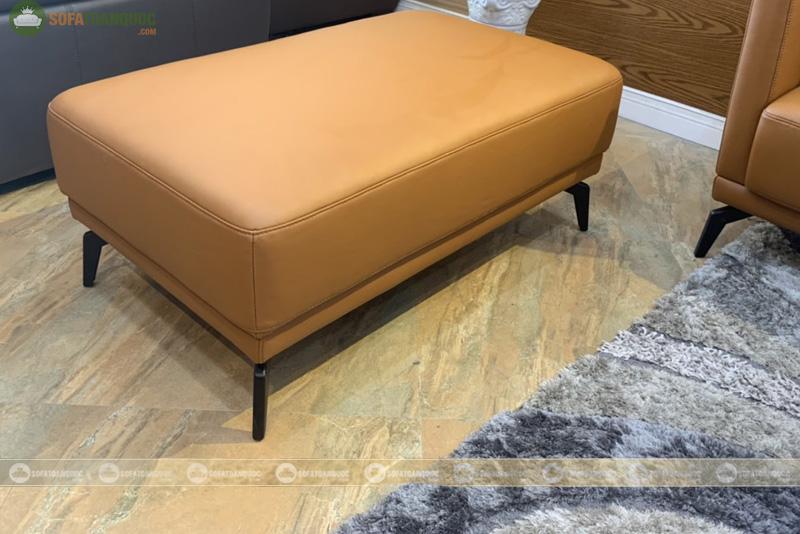 Bộ bàn ghế sofa da boss ý cao cấp màu da bò mã m06c-6