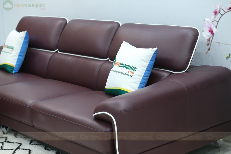 sofa da có tựa lưng gật gù