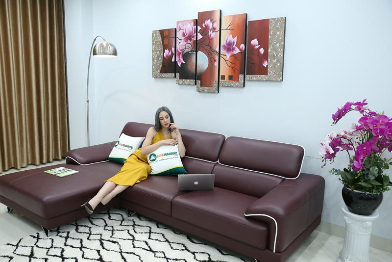 sofa da bò thật nhập từ Brazil