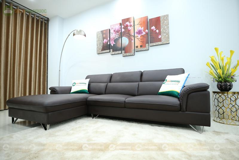 bộ ghế sofa da nhập khẩu Carola