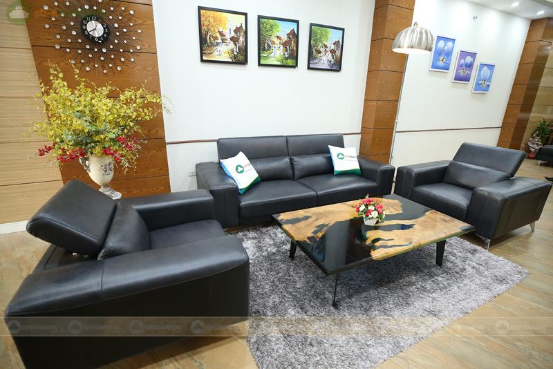 bộ ghế sofa hiện đại bọc da