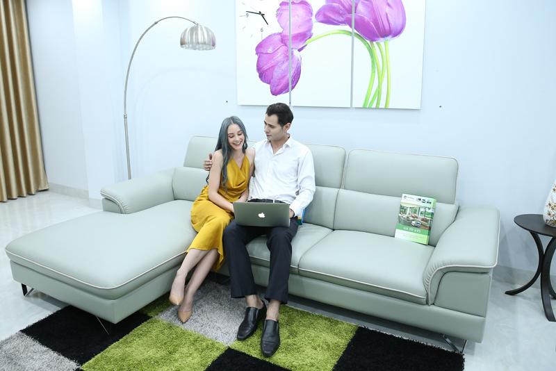 sofa da nhập khẩu độ bền cao