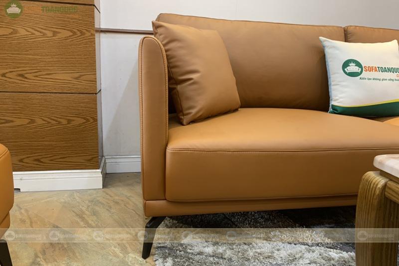 Sofa đơn băng dài 2 chỗ màu da bò 2200mm mã 192