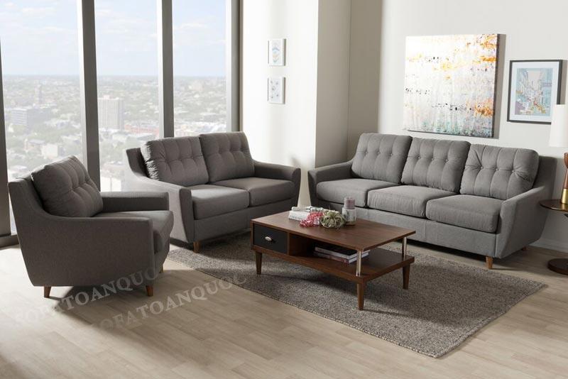 bộ ghế soha 1-2-3 màu xám đen