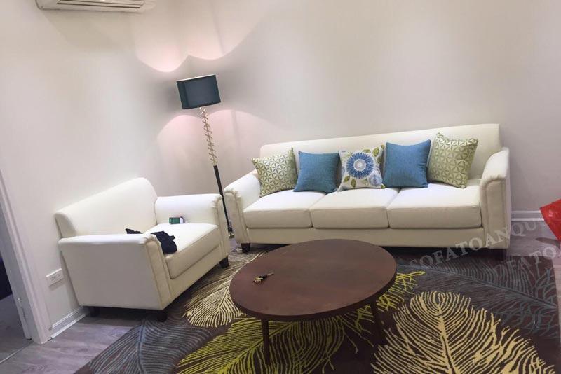 ghế sofa trắng kem