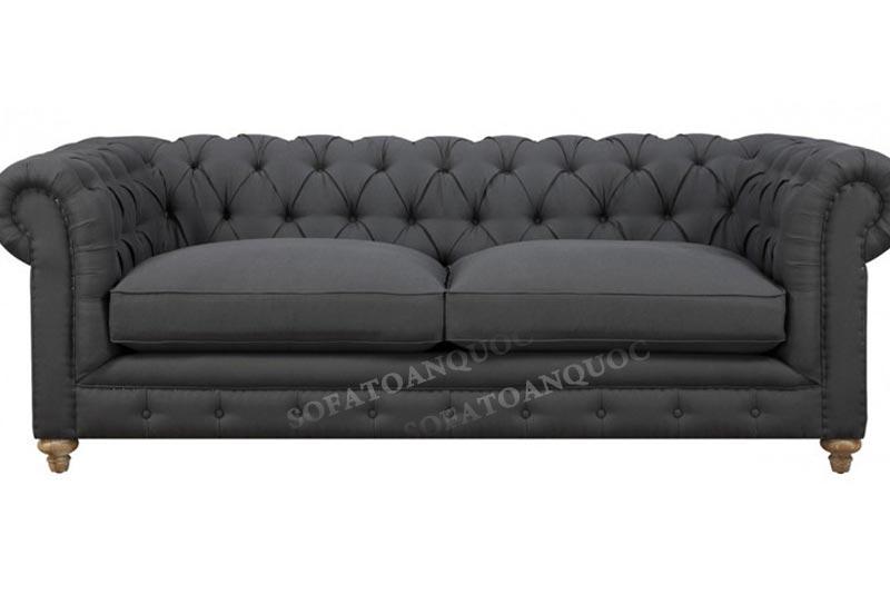 sofa tân cổ điển màu xám đen mã sfva 29