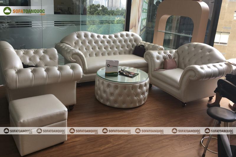 bộ bàn ghế sofa tân cổ điển cho cửa hàng làm đẹp