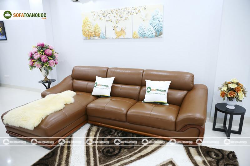 sofa màu da bò da microfiber