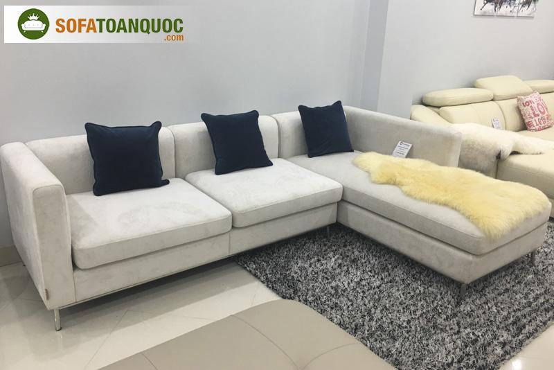 bộ ghế sofa góc cỡ nhỏ màu xám