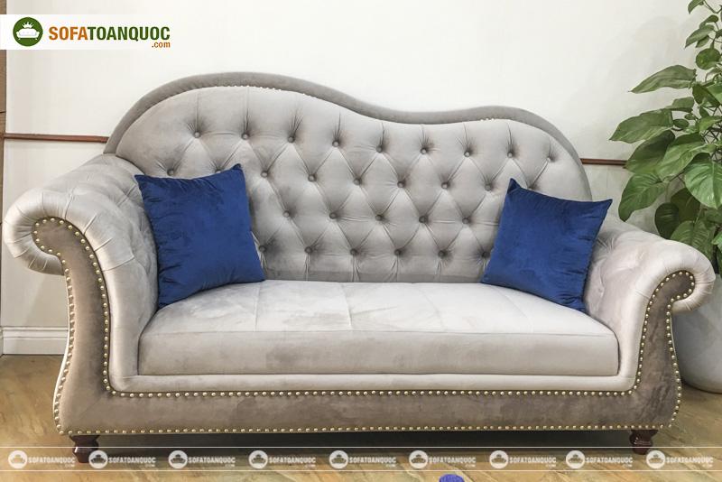 sofa văng nhỏ màu xám