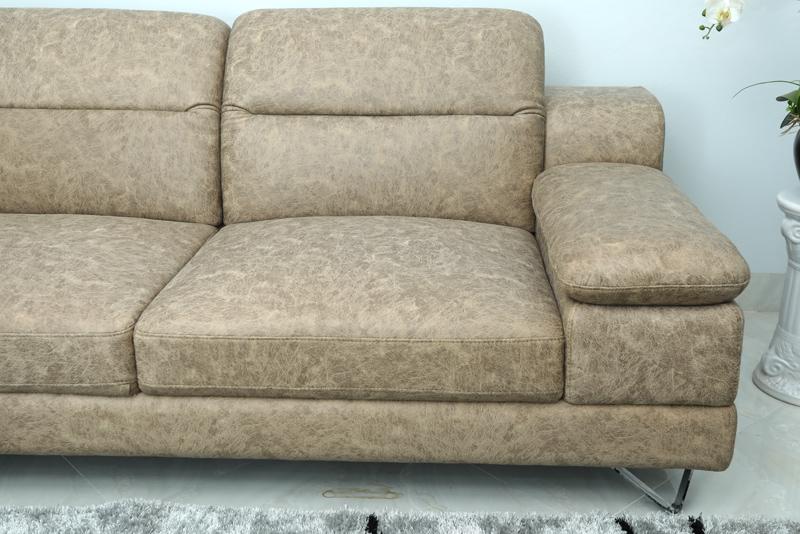 sofa bọc da màu báo đốm đẹp