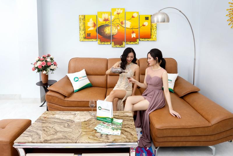 bộ ghế sofa da đẹp
