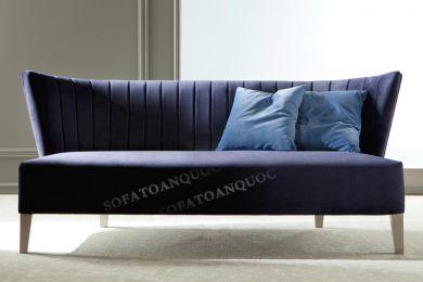 Mẫu ghế sofa văng đơn dài không tay vịn mã 18