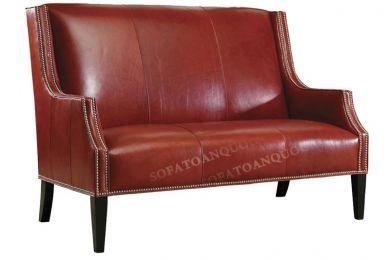 Ghế sofa văng da màu đỏ mã 50