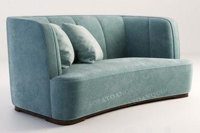 Mẫu sofa băng bọc vải nỉ màu xanh ngọc mã 59