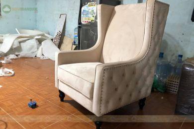 Ghế bành đơn bọc vải kiểu tân cổ điển mã 57