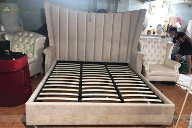 Giường ngủ da mã 83 rộng 2400mm