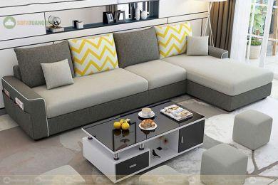 Sofa vải tựa rời với túi đựng bên hông mã 95