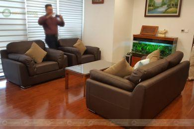 Bộ sofa 1+1+2 bọc da cho văn phòng mã 219