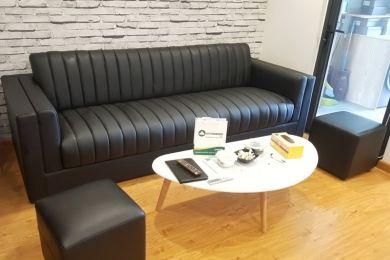 Sofa văng màu đen đẹp mã 168
