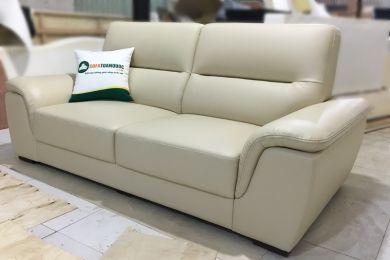 Sofa văng 2 chỗ bọc da màu trắng mã 157