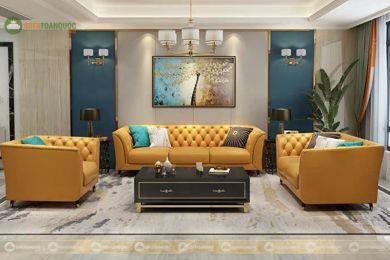 Bộ ghế sofa tân cổ điển sang trọng mã 241