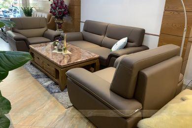 Bộ sofa phòng khách màu cafe nâu mã m08b