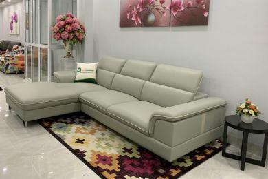 Sofa màu ghi bọc da 2600mm mã M12