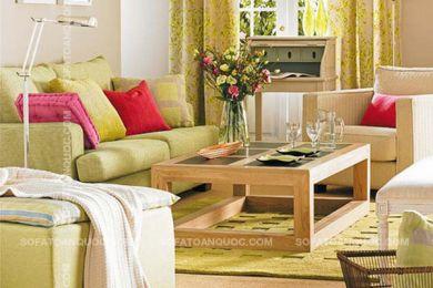 Mẫu bàn gỗ nhỏ thấp cho sofa mã 14