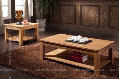 Mẫu bàn trà nhỏ gọn đẹp gỗ tự nhiên mã 21