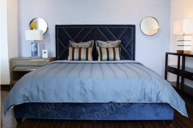 giường ngủ bọc vải mã 60