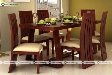 Bộ bàn ghế phòng ăn gỗ sồi mỹ đỏ mã 33