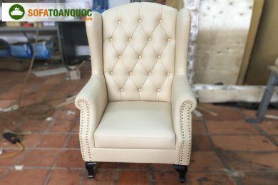 Mẫu Ghế Ngồi Sofa Armchair Bọc Da Mã 45