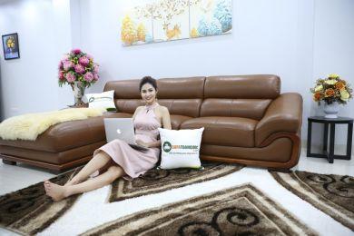 Sofa da nhập khẩu mã QV-FR501P