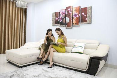 Bộ Bàn Ghế Sofa Thấp Bọc Da Nhập Khẩu Mã QV-913P