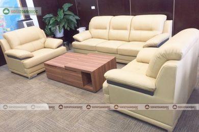 Bộ ghế sofa da văn phòng giám đốc 1:2:3 mã 188