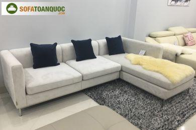 Mẫu bộ ghế sofa vải nhung mã 75