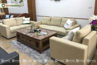 Bộ bàn ghế sofa bọc vải kích thước lớn mã 80