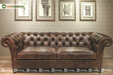 Mẫu sofa văng da nhỏ đẹp giá rẻ phong cách châu âu mã 147