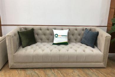 Mẫu ghế sofa văng nỉ tân cổ điển đẹp mã 125